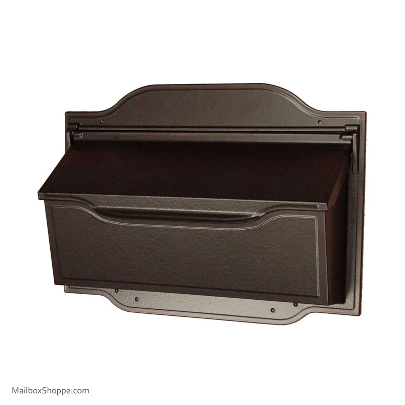 Cast Contemporary Wall Mailbox Oil Rubbed Bronze