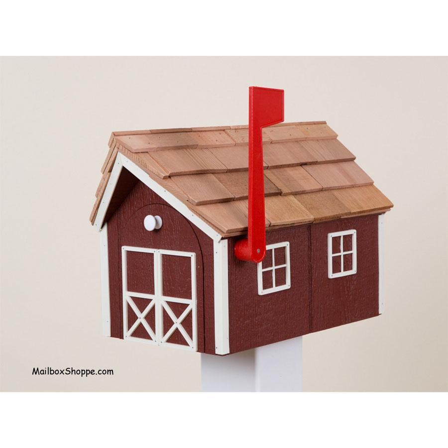 Amish Barn Mailbox - Mailbox Shoppe